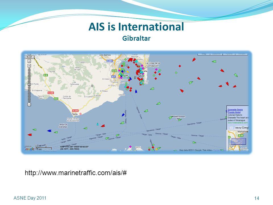 AIS is International Gibraltar ASNE Day 2011 14 http://www.marinetraffic.com/ais/#