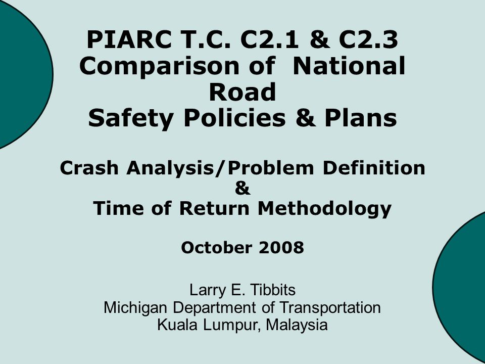 Why Use TOR Federal Highway Safety Improvement Program requires that we invest safety dollars where they are needed most – where we get the greatest return Helps prioritize competing safety projects Verifies how the safety fix matches the demonstrated safety problem
