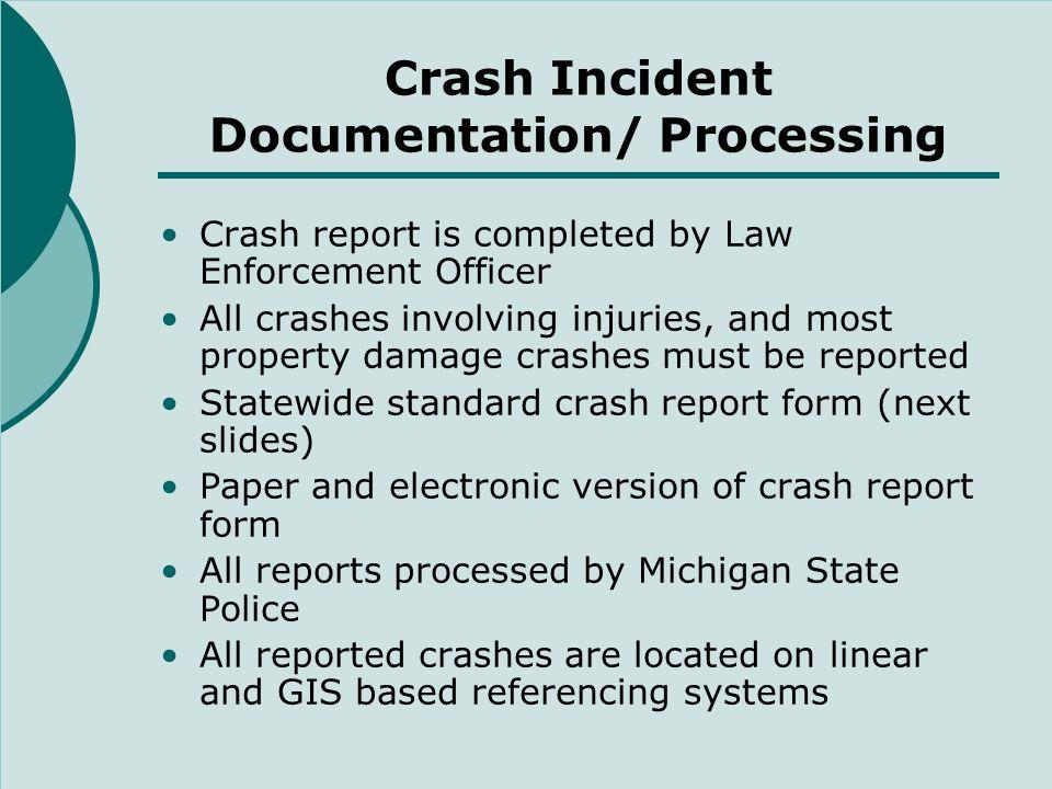 Michigan Crash Report Form (front)