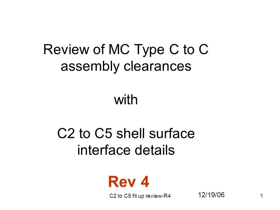 32 MC C5 metrology data MC C2 metrology data Surface measures -0.07 to -0.13 Surface measures -0.13 to -0.17 Surface -0.02 to +0.14 Surface -0.05 to +0.15
