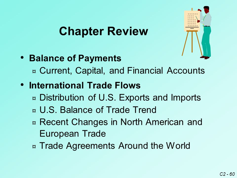 C2 - 60 Balance of Payments ¤ Current, Capital, and Financial Accounts International Trade Flows ¤ Distribution of U.S.