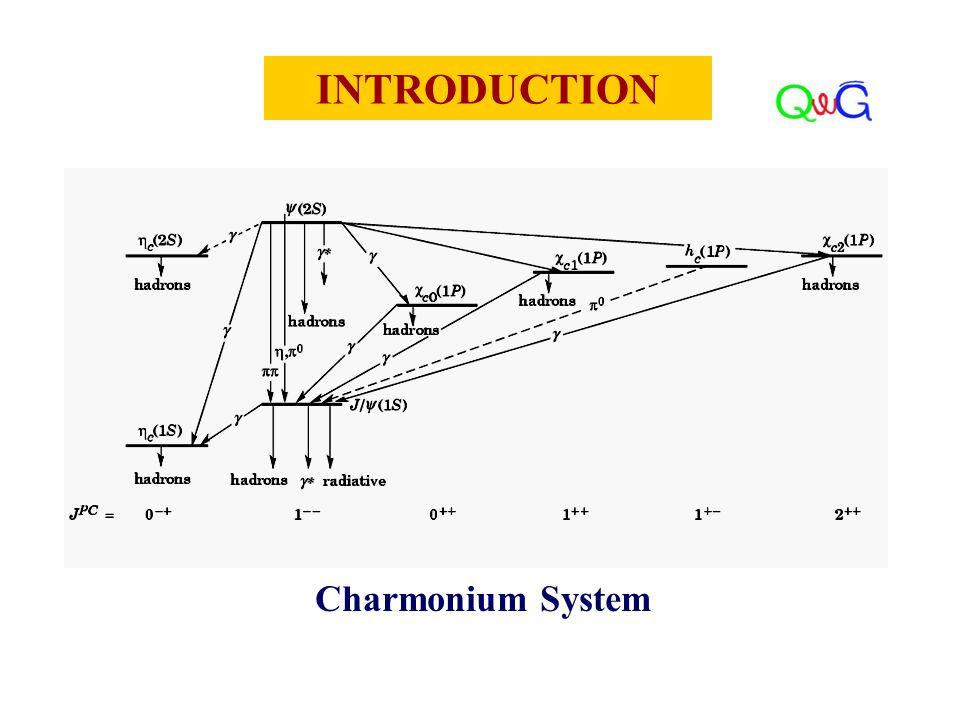 INTRODUCTION Charmonium System