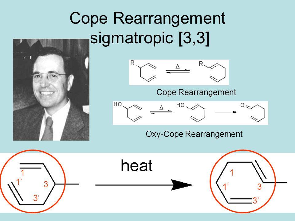 16 Cope Rearrangement sigmatropic [3,3] Arthur Cope1902-1958 Cope Rearrangement Oxy-Cope Rearrangement 1 1' 3 3' 1 1'3 3'