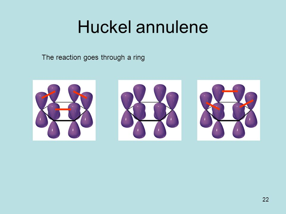 22 Huckel annulene The reaction goes through a ring