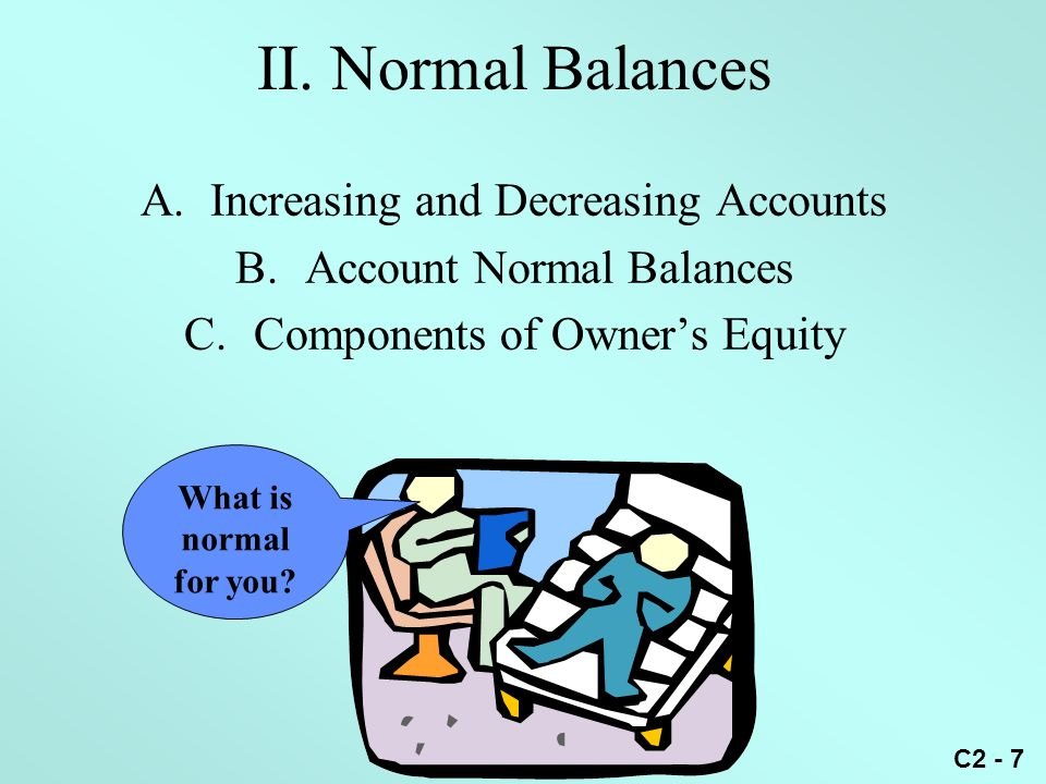 C2 - 6 C. Balance Examples What is the balance of the following accounts: CashAccounts Payable 12,000 2,000 1,000 3,000 2,000 6,000 9,000 11,000 Debit