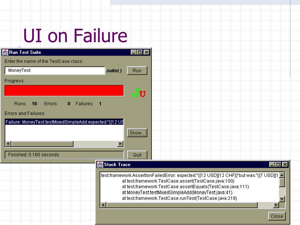 UI on Failure