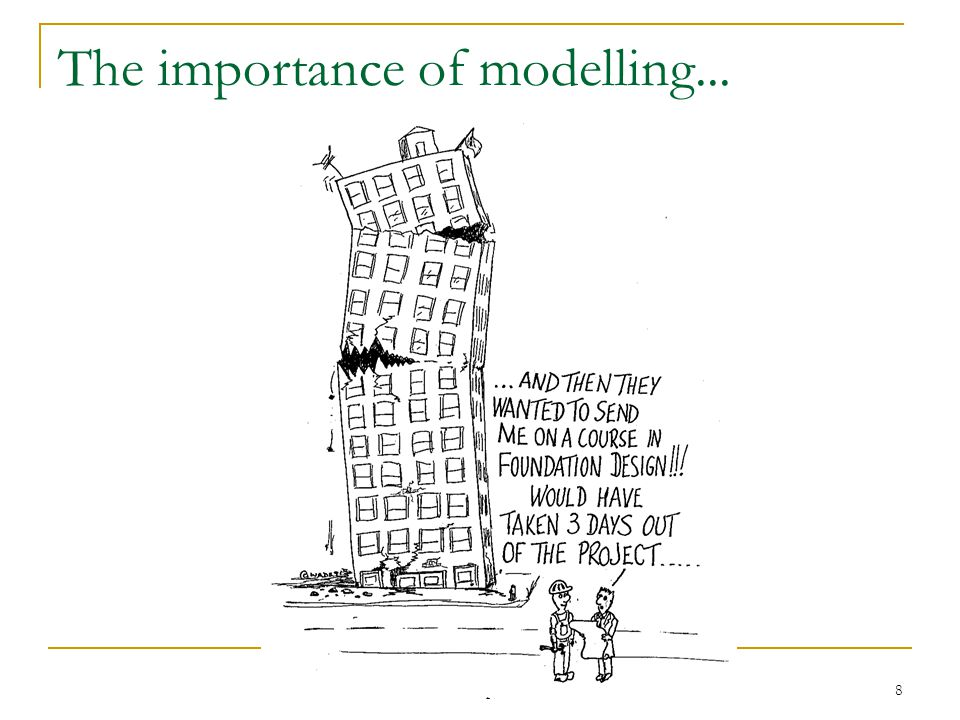 Dif8901 April 2003 8 The importance of modelling...