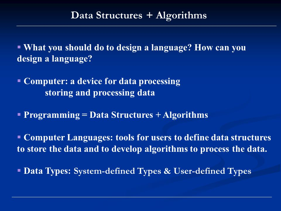 .NET Framework ' s Data Types: CTS Categories of data types in CTS: system-defined: Primitives (int, float, …) user-defined: Classes Properties Structs Interfaces Enumerations Events Delegates Generics Templates Common Type System (CTS)