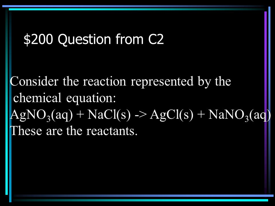 $100 Answer from C2 What is related to heat? Back to Jeopardy