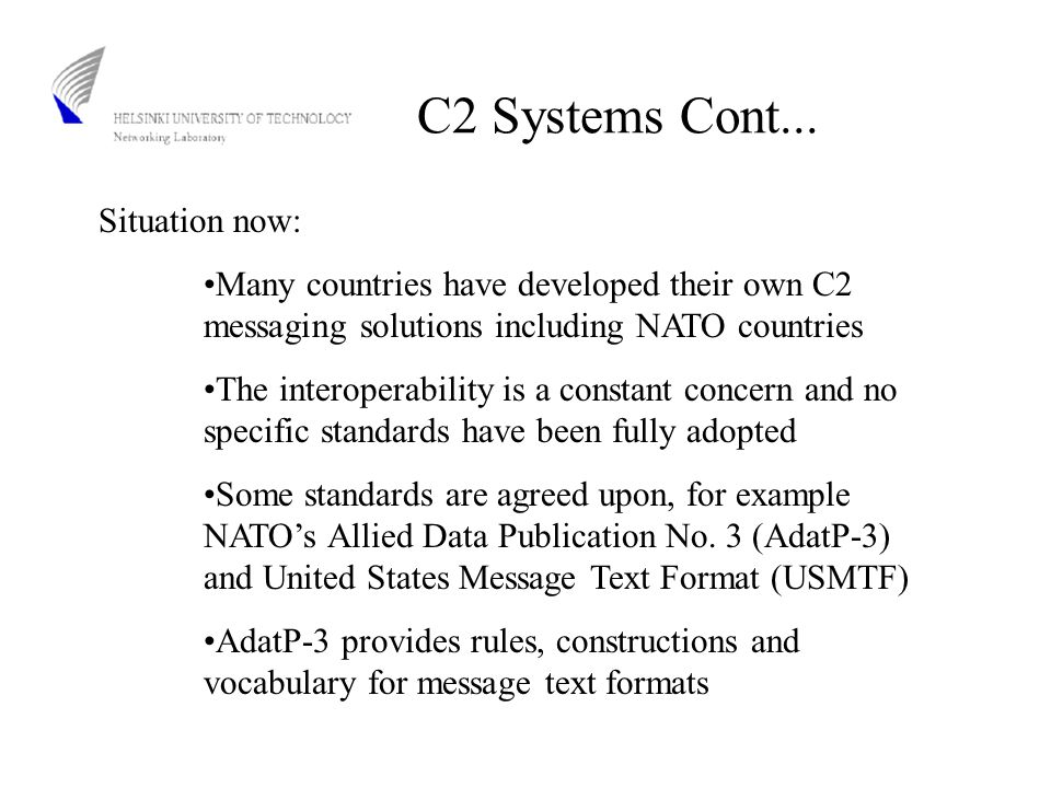C2 Systems Cont...