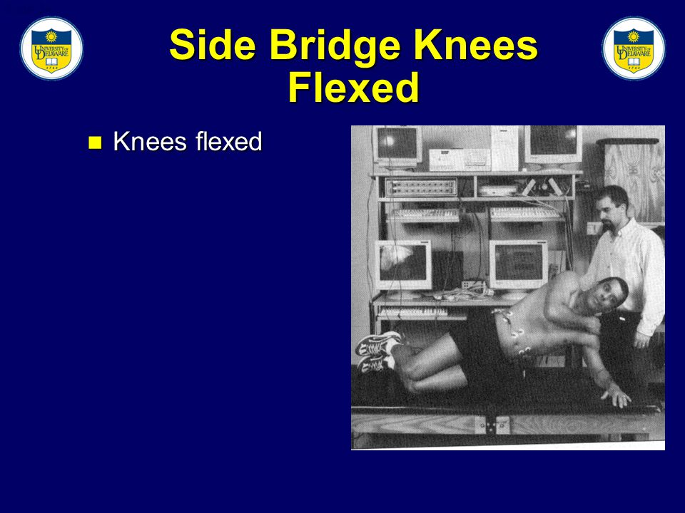 Slide 34 Side Bridge Knees Flexed Knees flexed Knees flexed