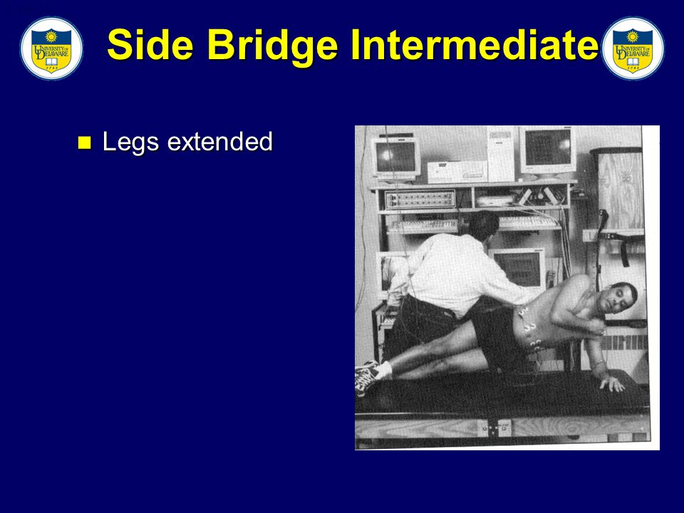 Slide 35 Side Bridge Intermediate Legs extended Legs extended