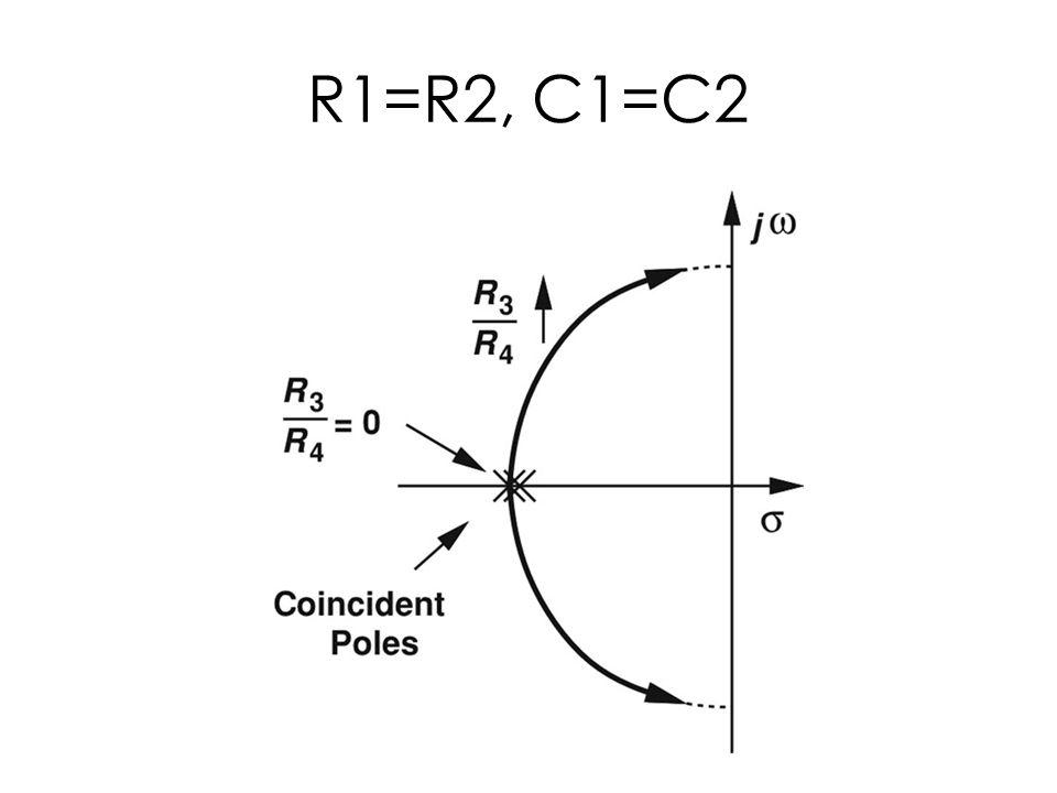 R1=R2, C1=C2