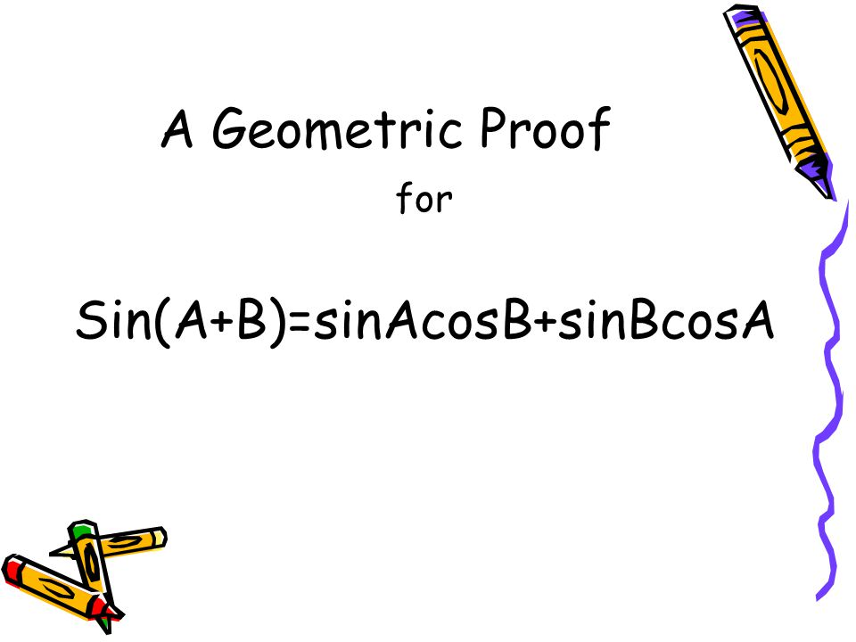 AB a c1c2 b c h Take a general triangle, as shown below …