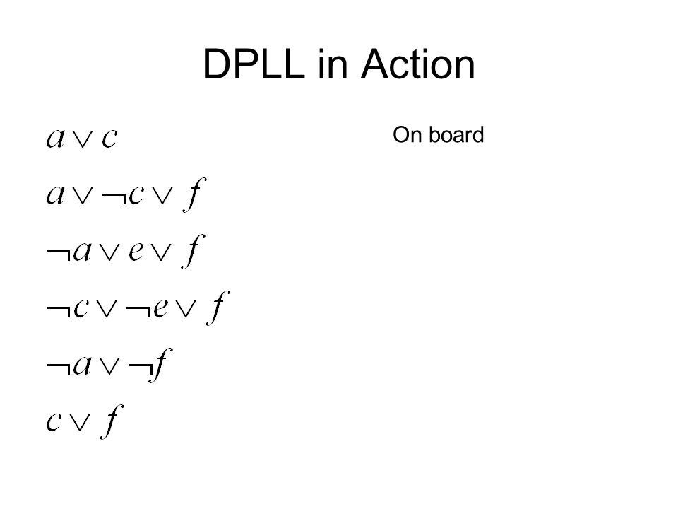DPLL in Action On board