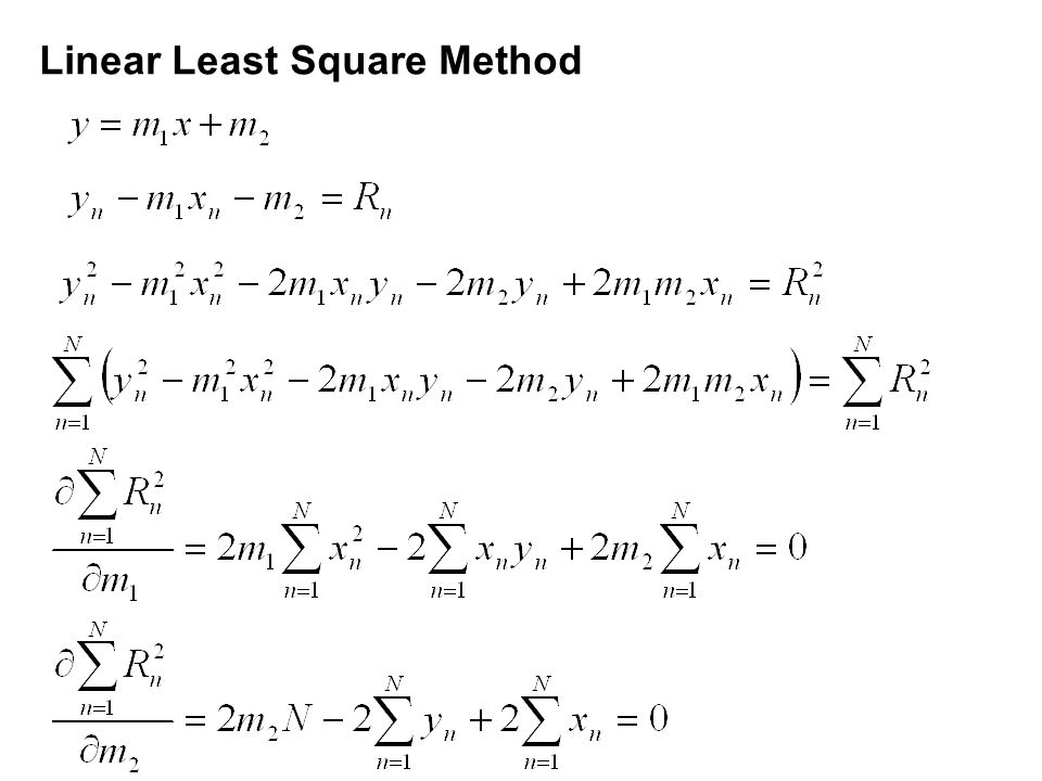 Linear Least Square Method