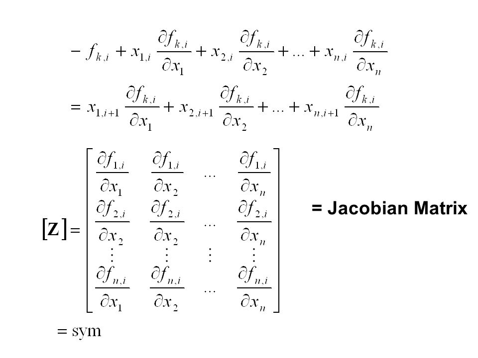 = Jacobian Matrix