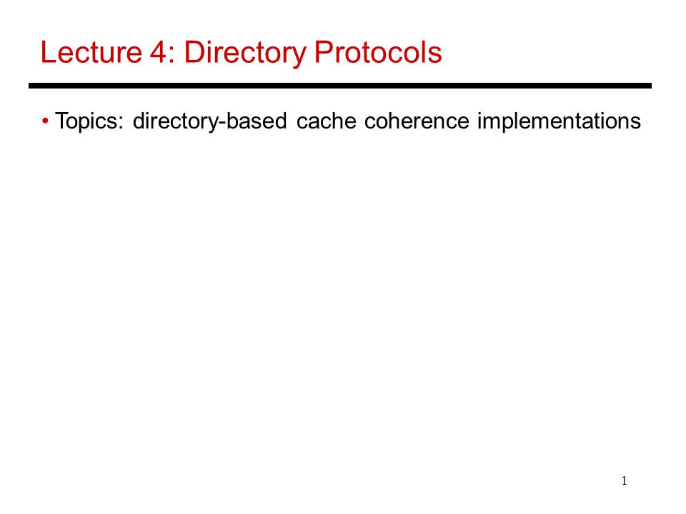 12 Flat Memory-Based Directories Directory is associated with memory and stores info for all cache copies A presence vector stores a bit for every processor, for every memory block – the overhead is a function of memory/block size and #processors Reducing directory overhead:  Width: pointers (keep track of processor ids of sharers) (need overflow strategy), 2-level protocol to combine info for multiple processors  Height: increase block size, track info only for blocks that are cached (note: cache size << memory size)