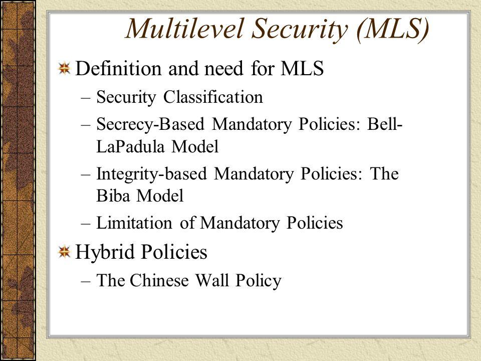Reference Sushil Jajodia and Ravi S. Sandhu, Toward a Multilevel Secure Relational Model, essay 20