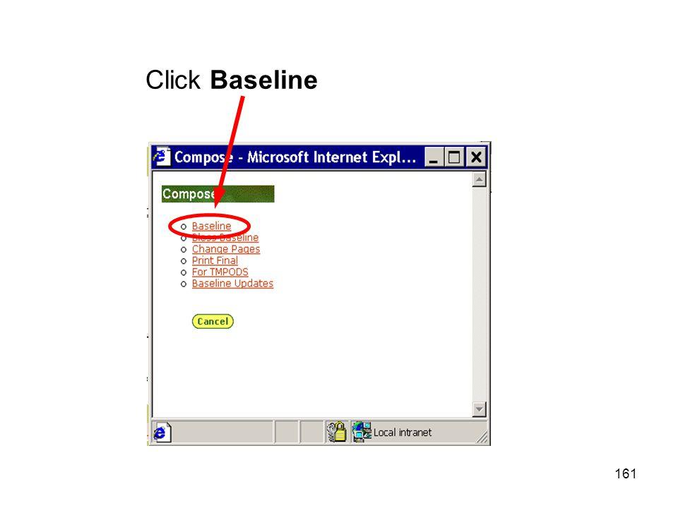 161 Click Baseline