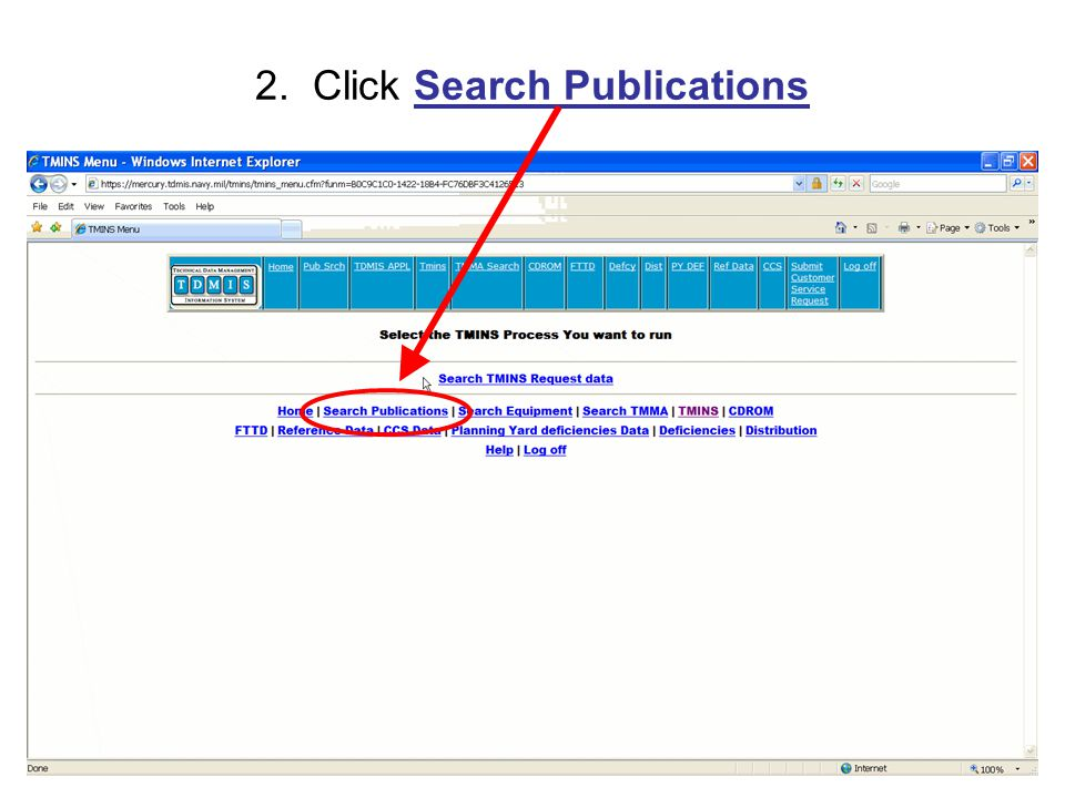 77 2. Click Search Publications