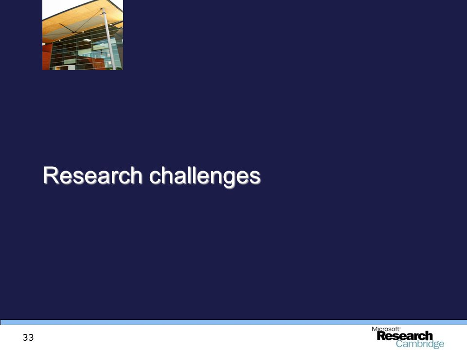 33 Research challenges