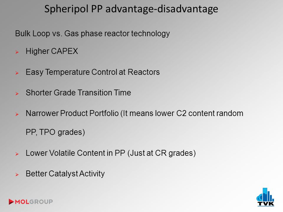 Spheripol PP advantage-disadvantage Bulk Loop vs.
