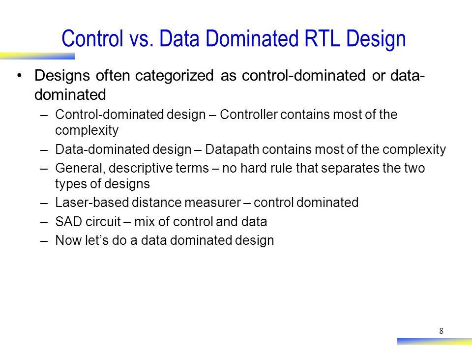 8 Control vs.