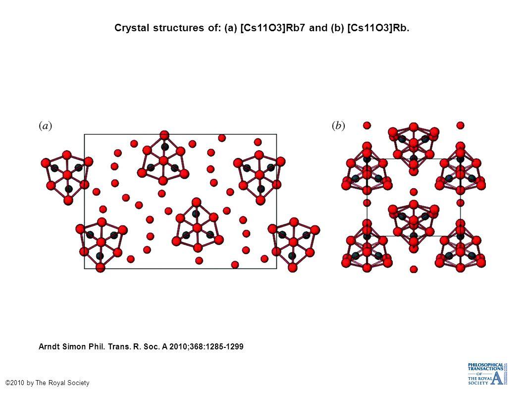 (a) Crystal structure of Cs11O3.Arndt Simon Phil.