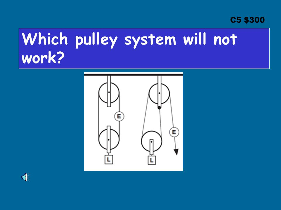 C5 $300 Which pulley system will not work