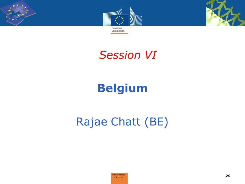 Session VI Belgium Rajae Chatt (BE) 20