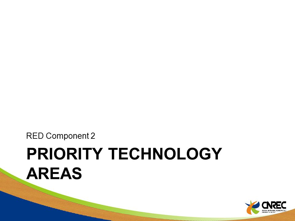 PRIORITY TECHNOLOGY AREAS RED Component 2