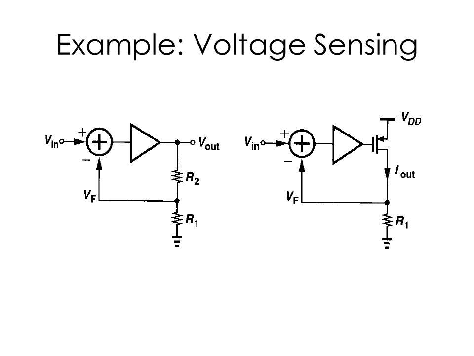 Example: Voltage Sensing