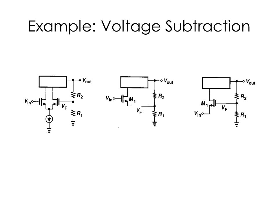 Example: Voltage Subtraction