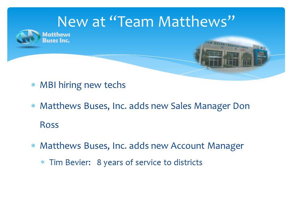  MBI hiring new techs  Matthews Buses, Inc.