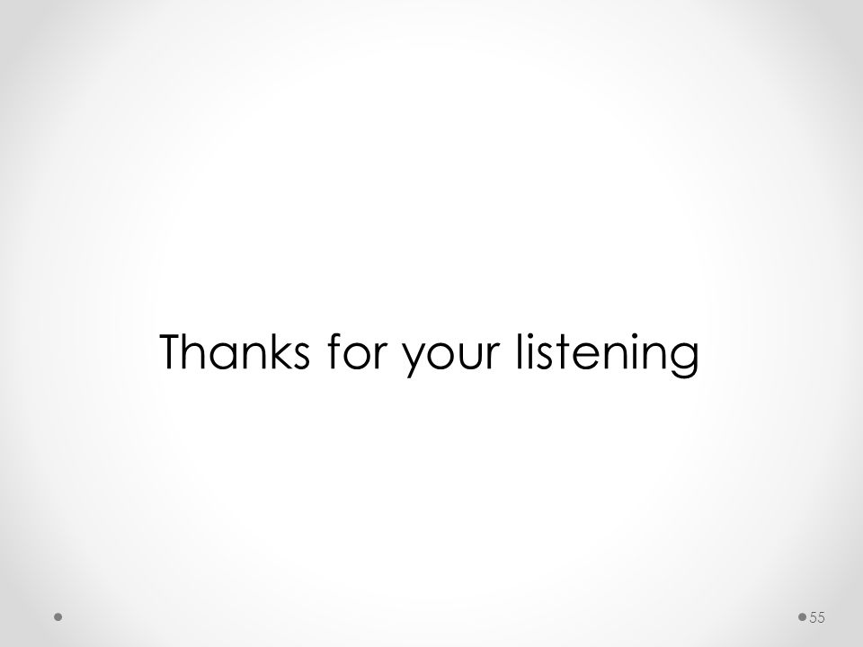 Thanks for your listening 55