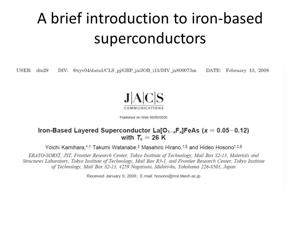 A brief introduction to iron-based superconductors