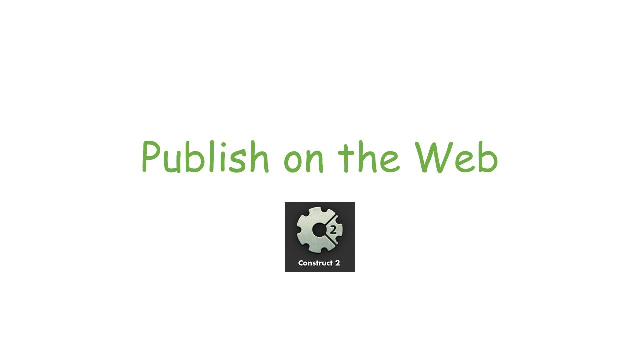 Publish on the Web