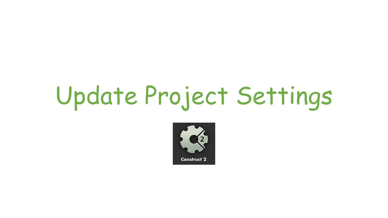 Update Project Settings: Step 1 Click on your untitled project