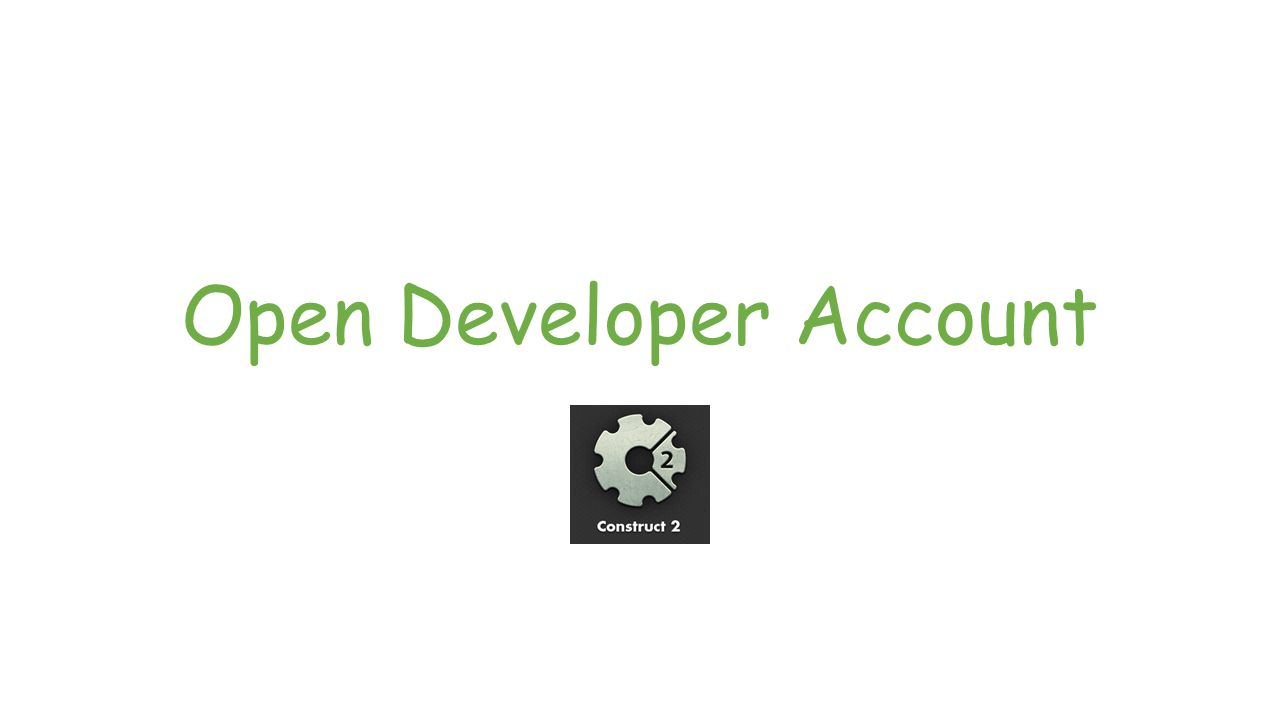 Open Developer Account