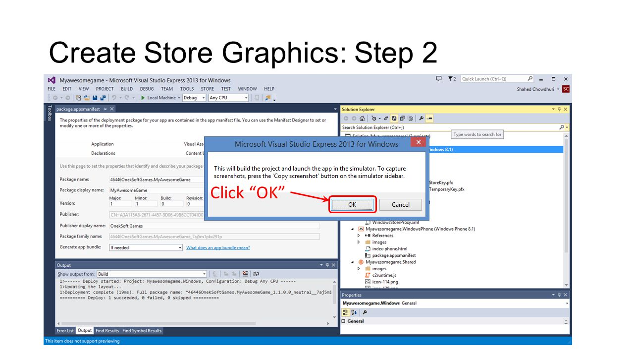 Create Store Graphics: Step 2 Click OK