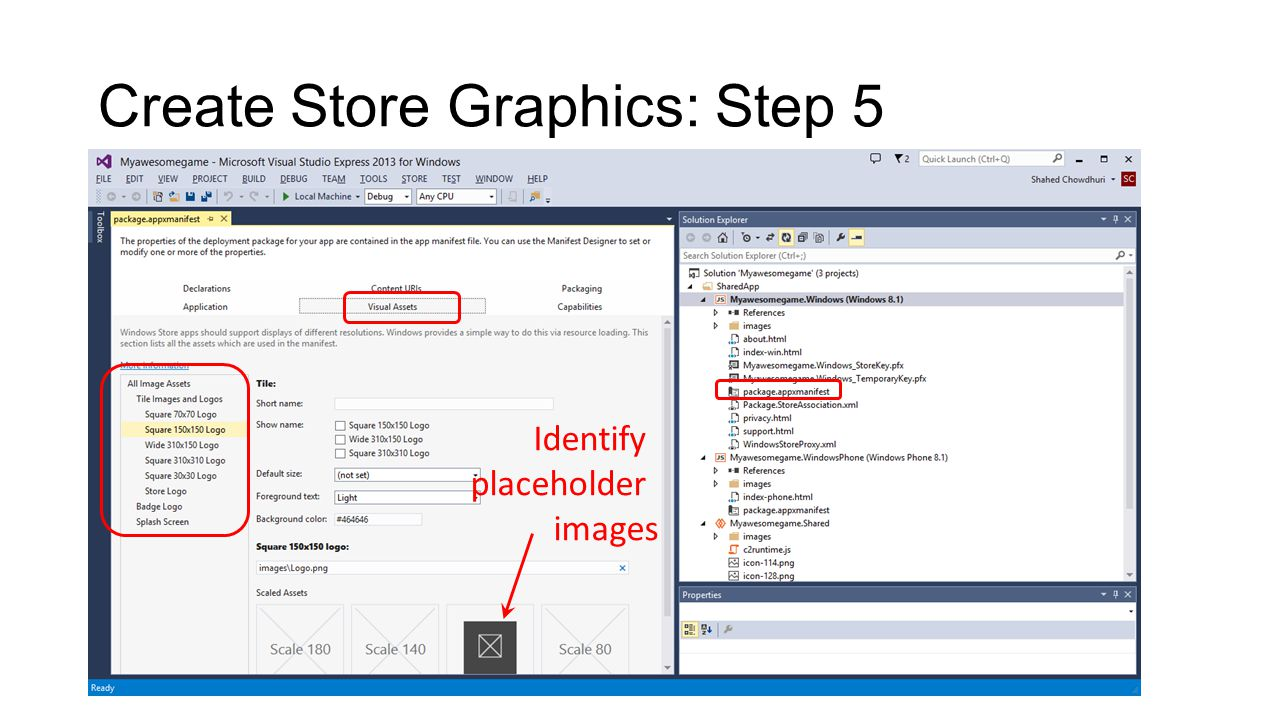 Create Store Graphics: Step 5 Identify placeholder images
