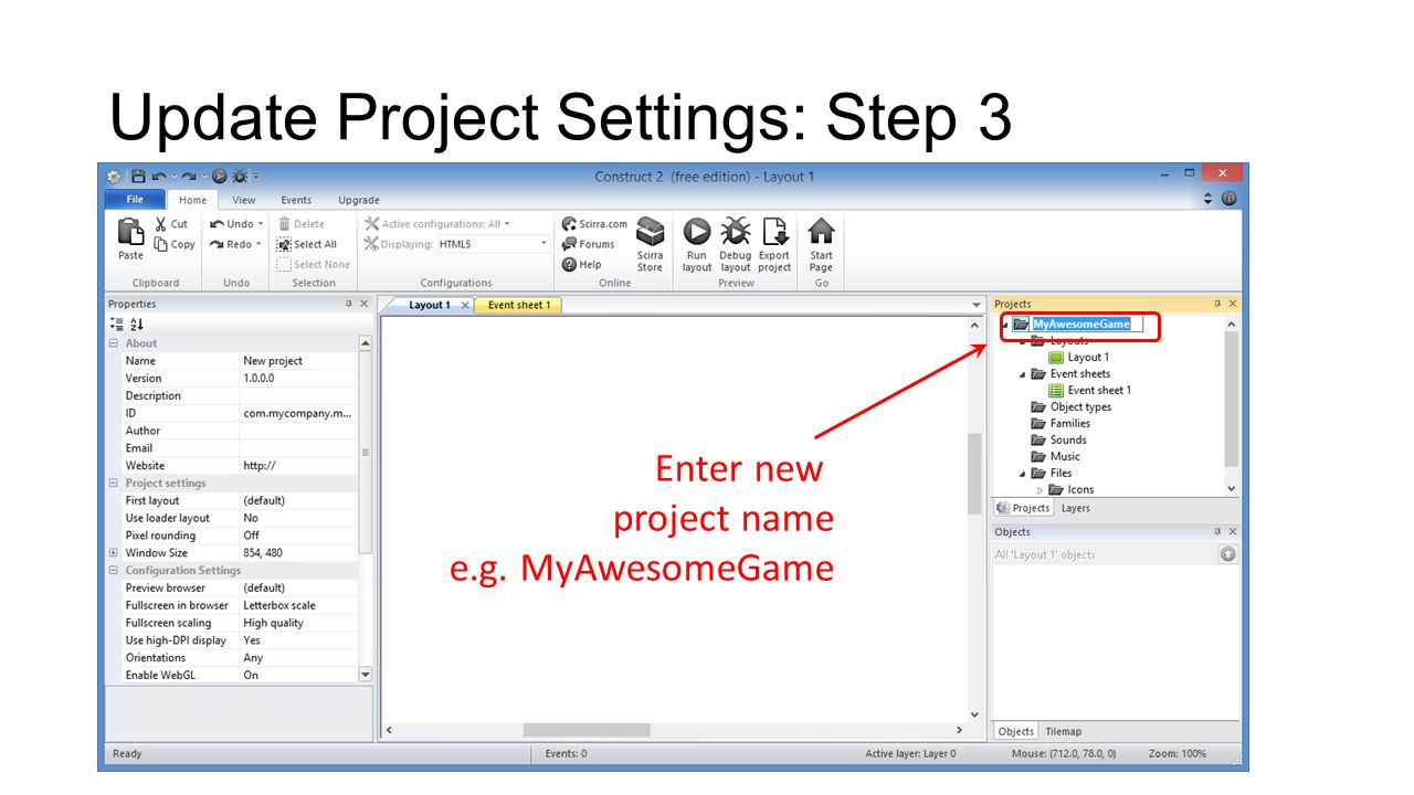 Create Certificate: Step 1 Open your solution in Visual Studio 2013 NOTE: This example shows Visual Studio Express 2013 for Windows, running on Windows 8.1