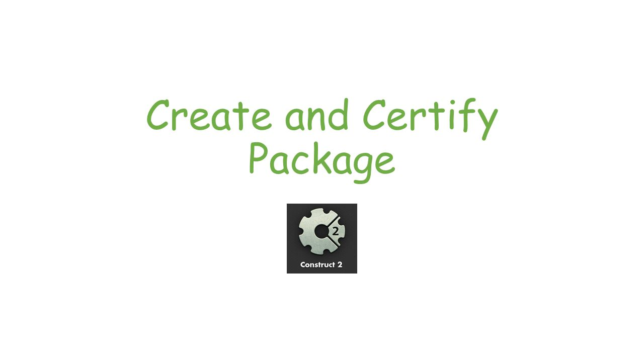 Create and Certify Package