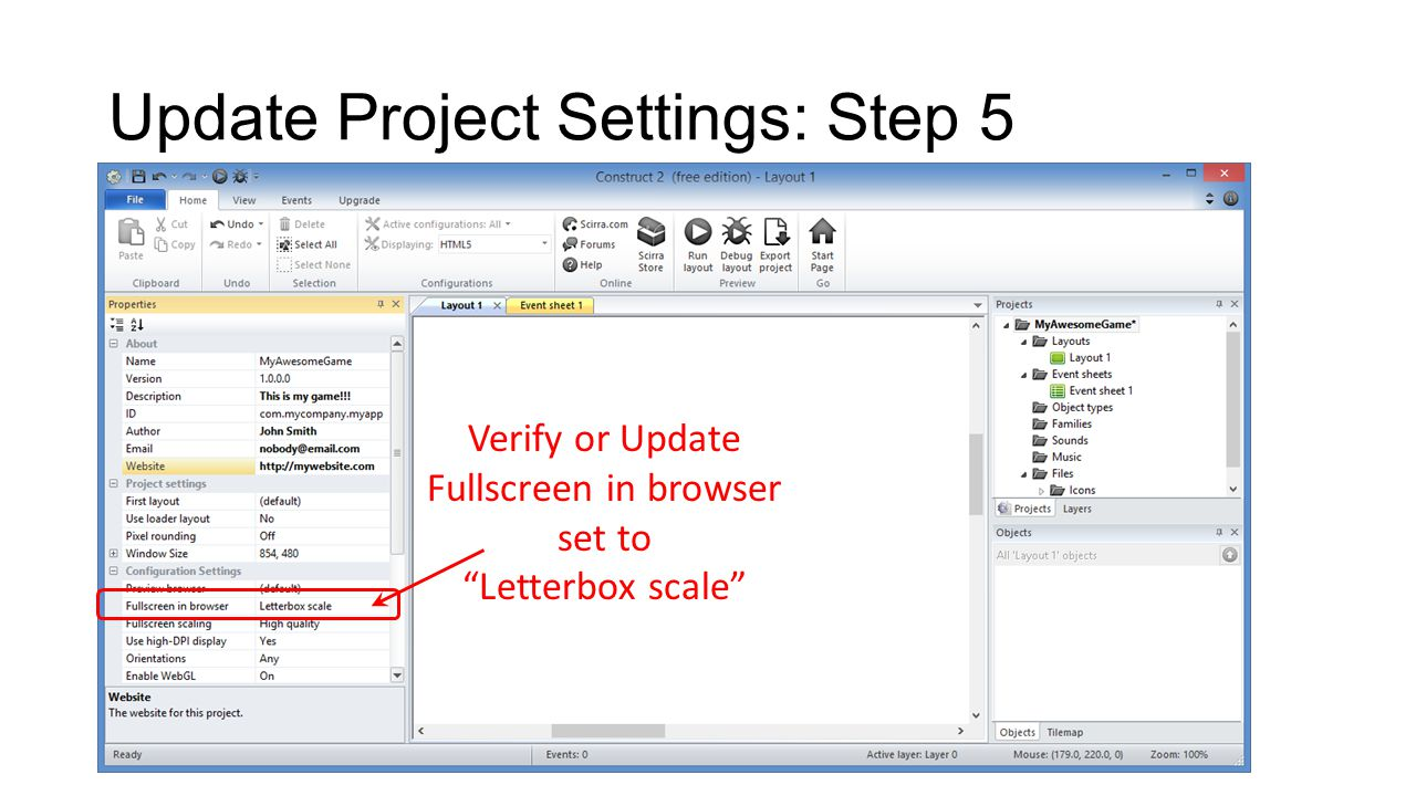 Create Certificate: Step 3 Click on Packaging tab