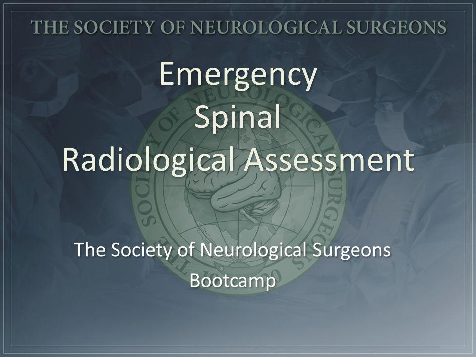 Emergency Spinal Radiological Assessment
