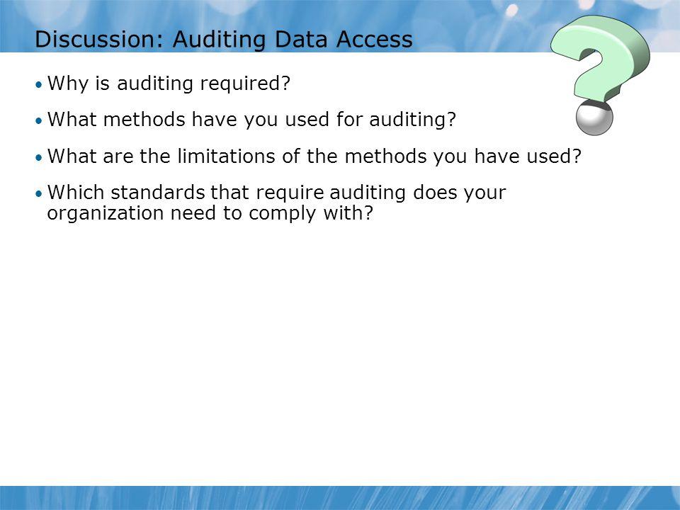 Using C2 Audit Mode Class C2 rating  U.S.
