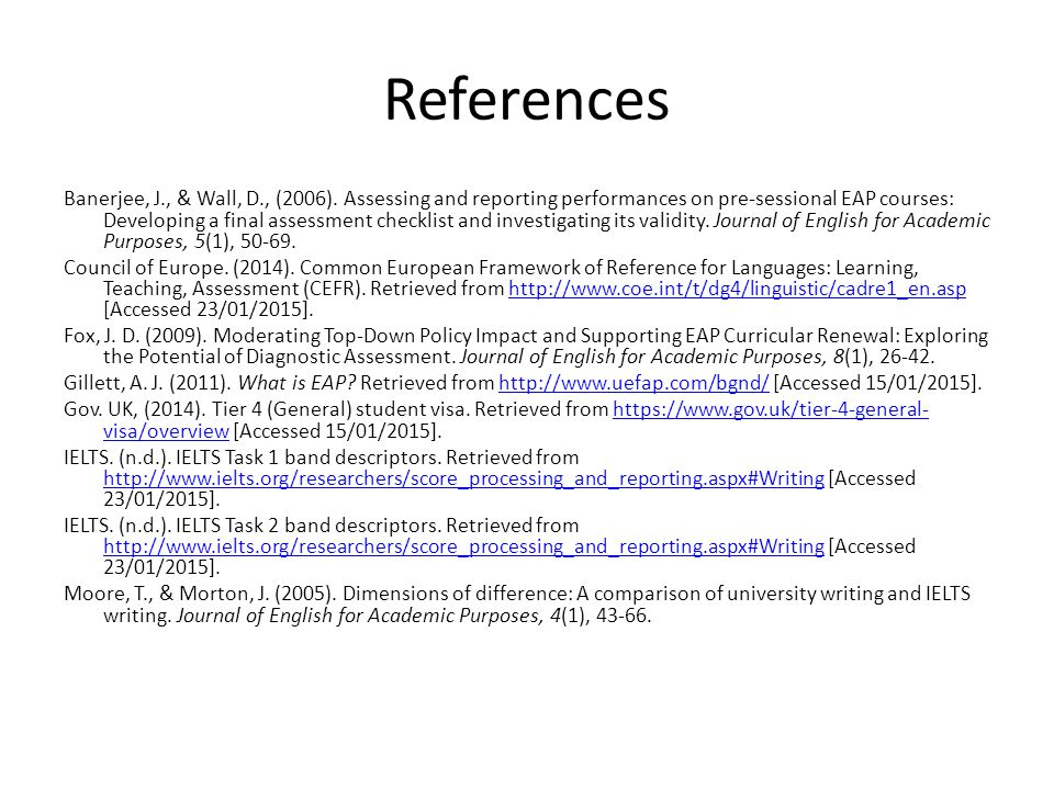 References Banerjee, J., & Wall, D., (2006).