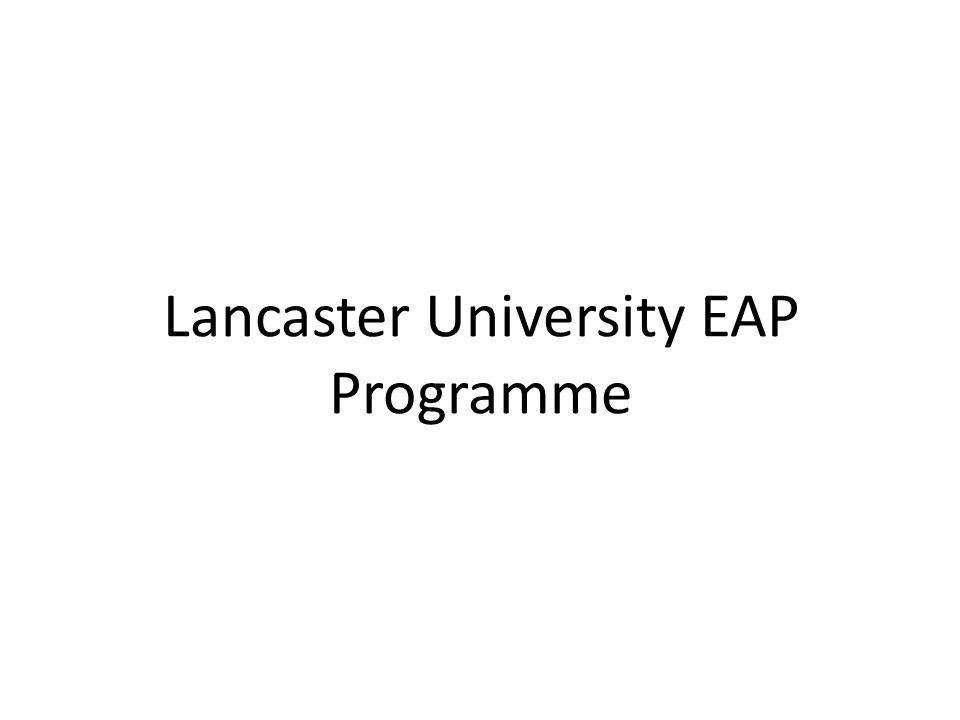 Lancaster University EAP Programme