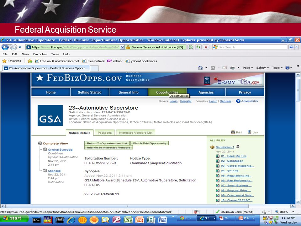 Federal Acquisition Service 14 When to Submit an eOffer? Any Time  Open Continuously - Offers can be submitted at any time. This is a Indefinite Deli